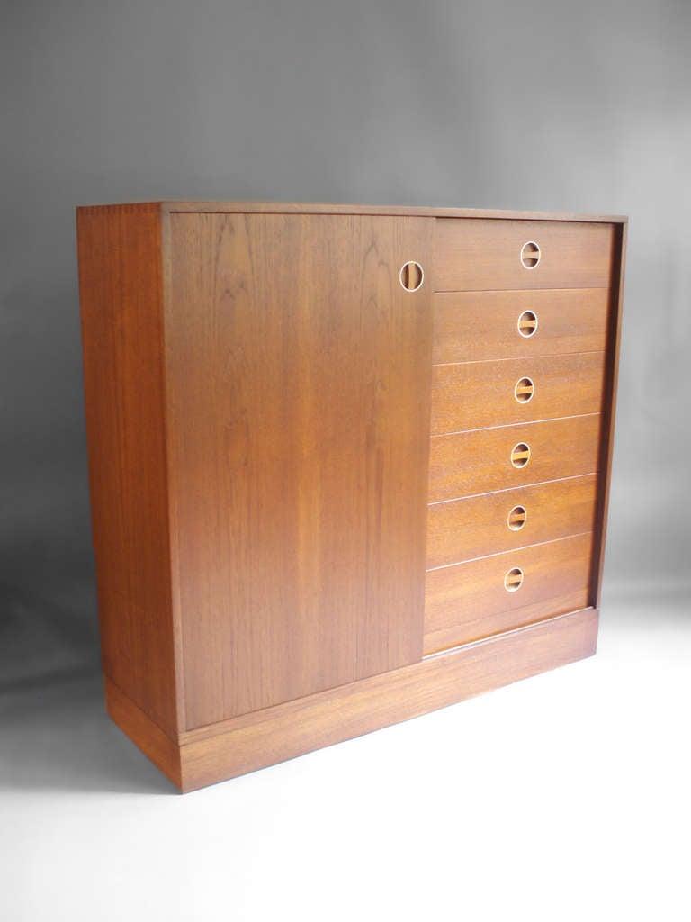 Teak Entryway or Gentleman's Cabinet by Brantorps at 1stdibs