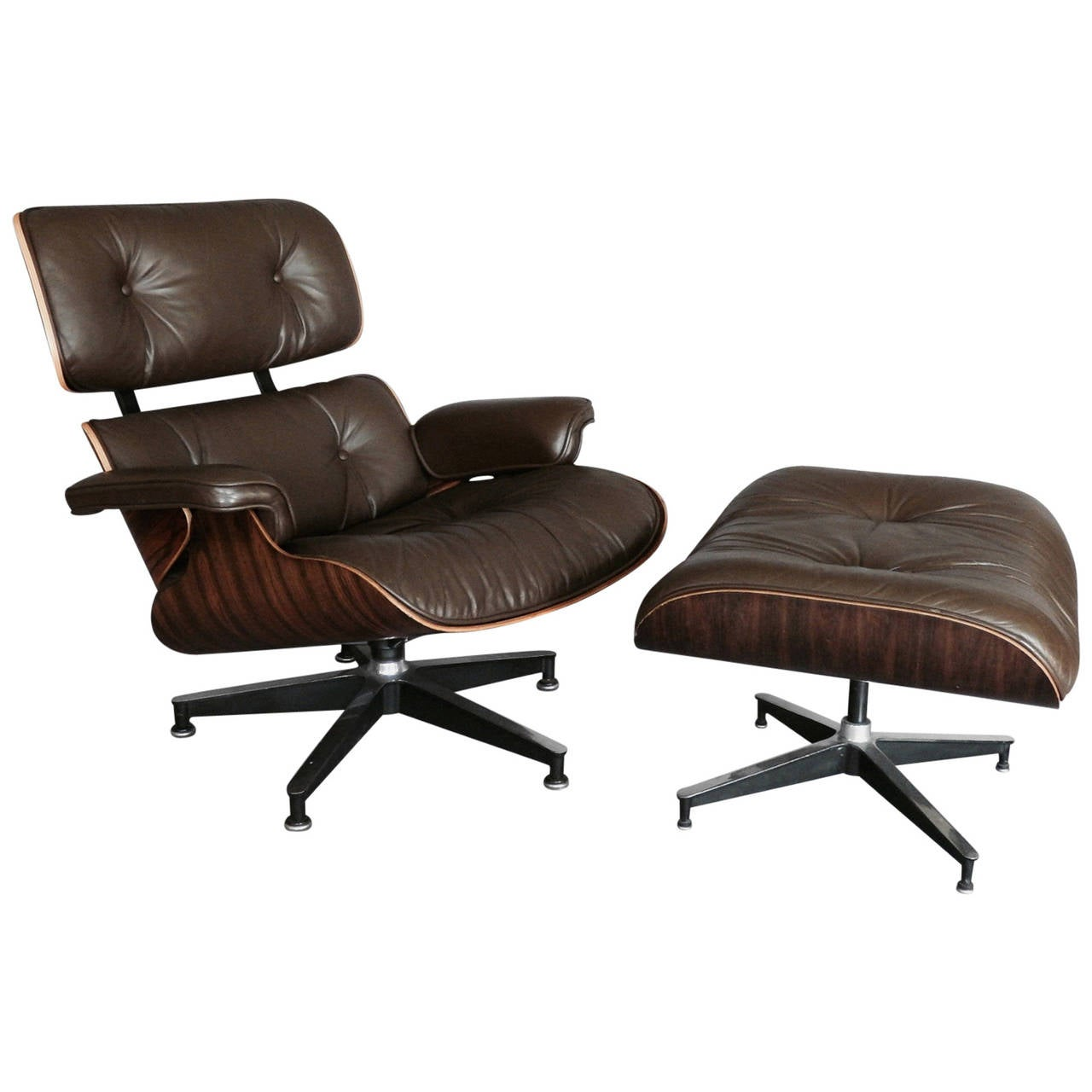 charles and ray eames rosewood 670 lounge chair at 1stdibs. Black Bedroom Furniture Sets. Home Design Ideas