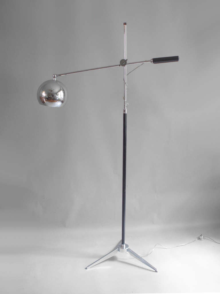 multi adjustable floor lamp by arredoluce at 1stdibs. Black Bedroom Furniture Sets. Home Design Ideas