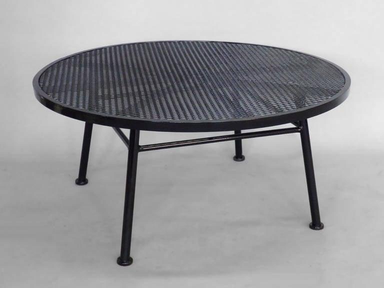 Woodard Iron Outdoor Coffee Table At 1stdibs