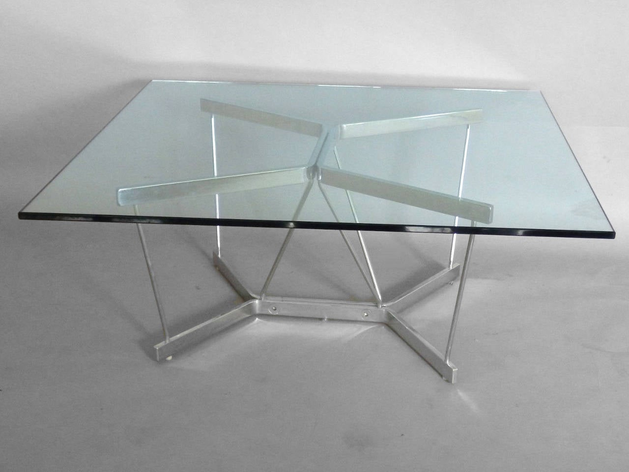 Seldom seen george nelson architectural chrome base for Architectural coffee table