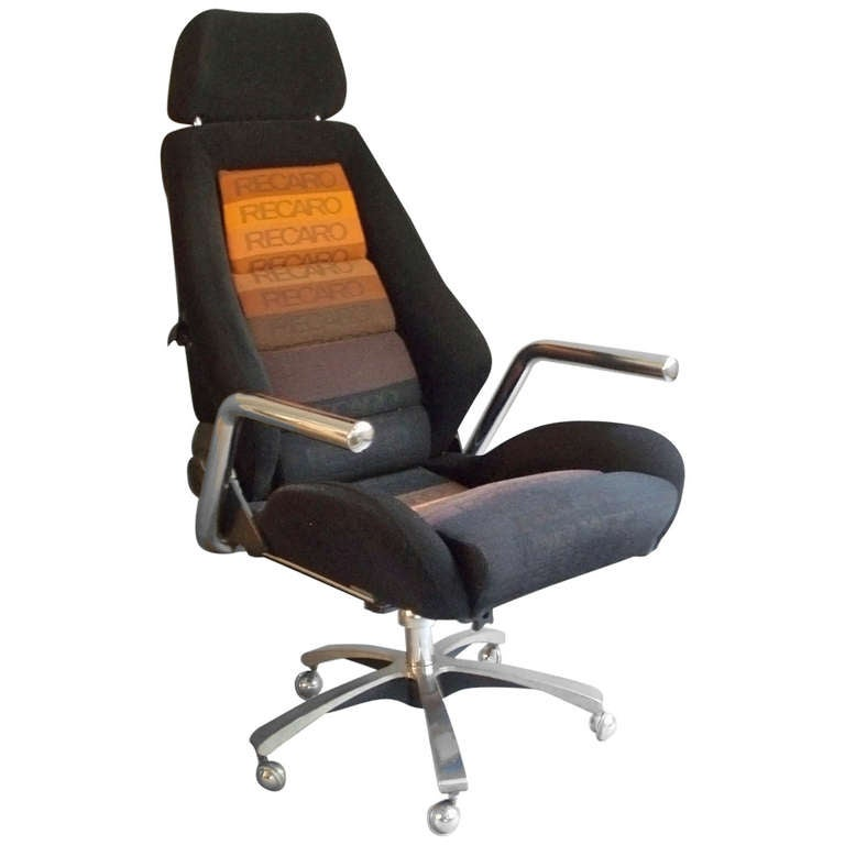 Race Car Style Executive Swivel Desk Chair By Recaro At