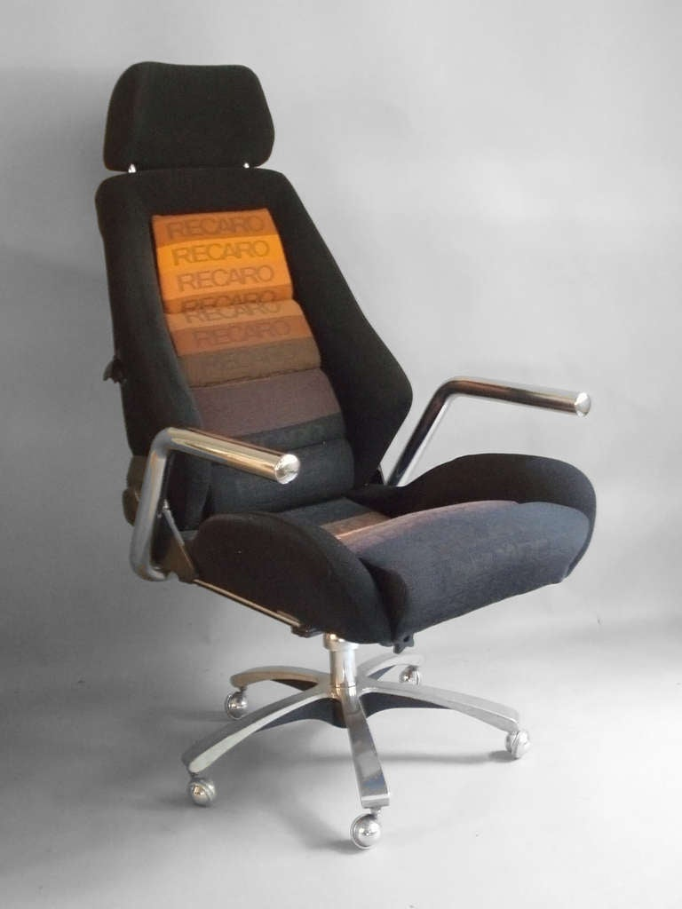 Race Car Style Executive Swivel Desk Chair by Recaro at 1stdibs