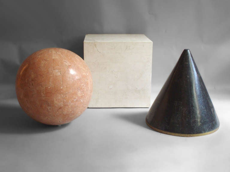 Mid-Century Modern Tessalated Geometric Forms by Maitland Smith