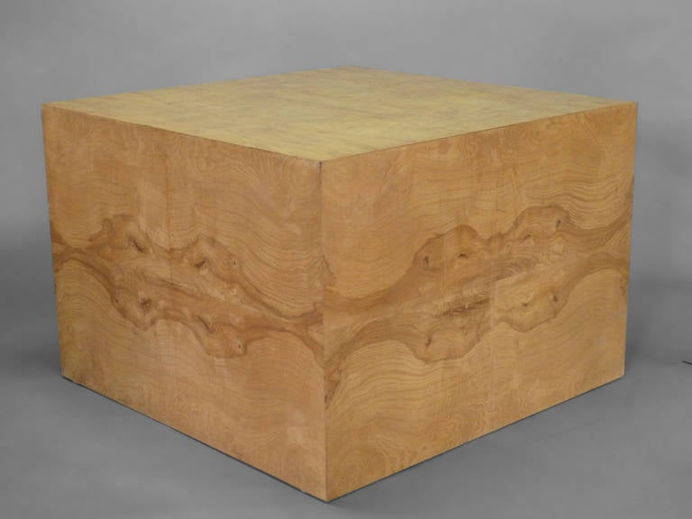 Milo Baughman Burl Wood Display Cube Coffee Table For Sale At 1stdibs