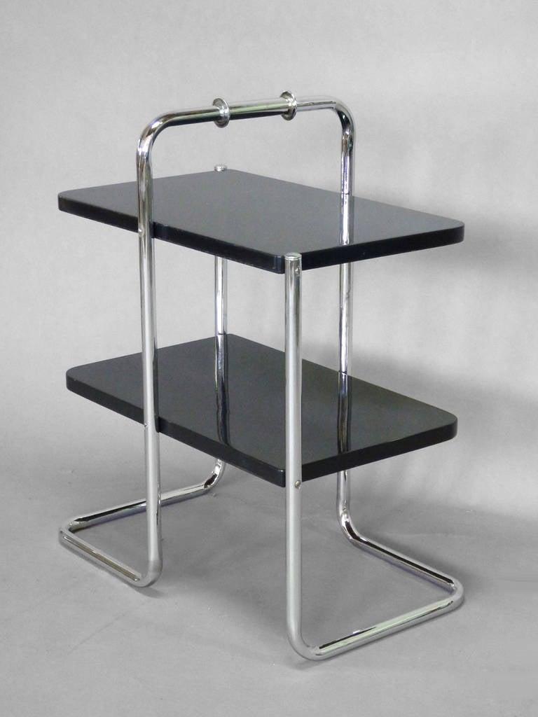 chrome furniture. machine age tubular chrome art deco side table by wolfgang hoffmann 3 furniture