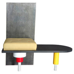 Post Modern Memphis Style Hall Seat Bench