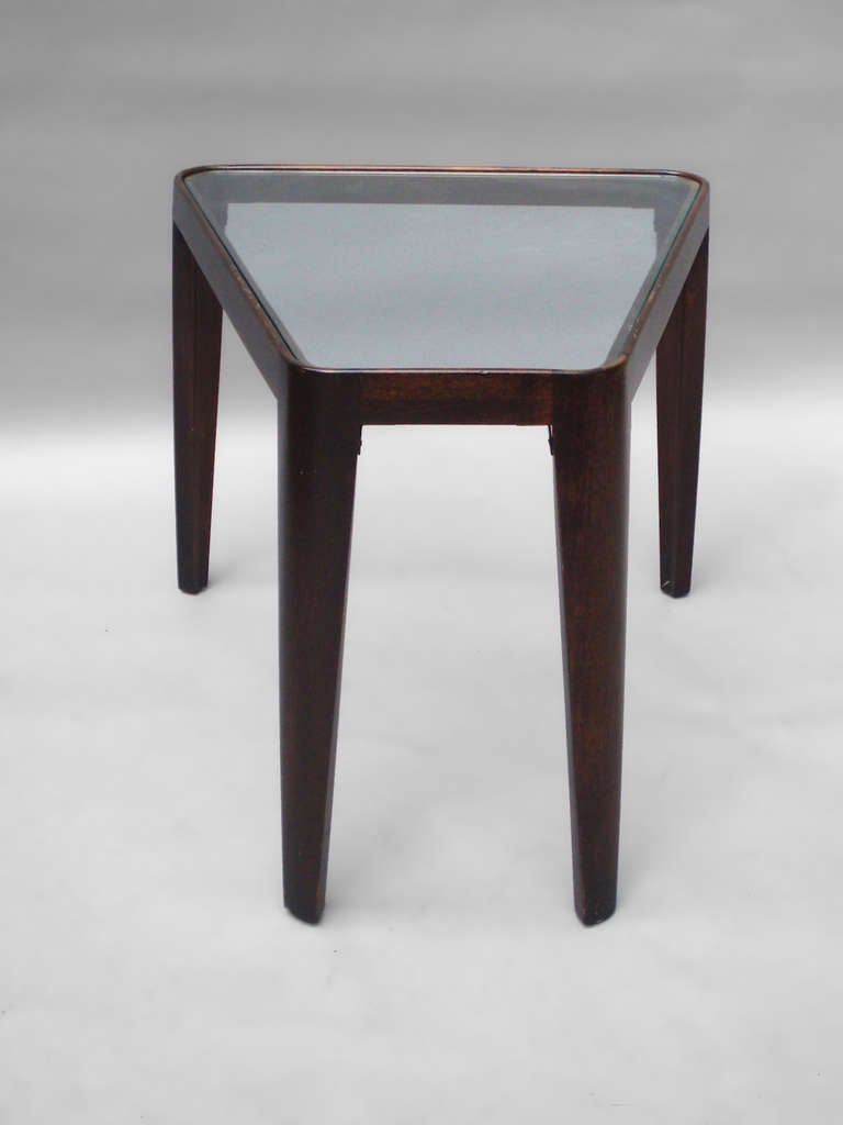 Glass top occasional table by edward wormley for dunbar at for Glass top occasional tables