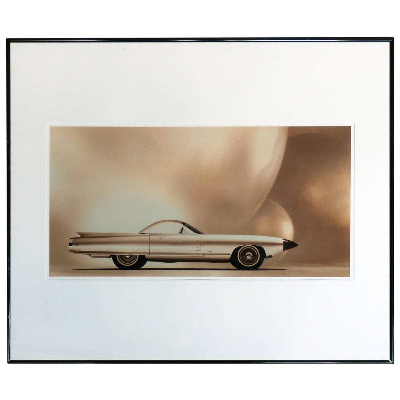 Buick Introduces 1st Convertible In Us In 25 Years: General Motors Cadillac Concept Car Print At 1stdibs