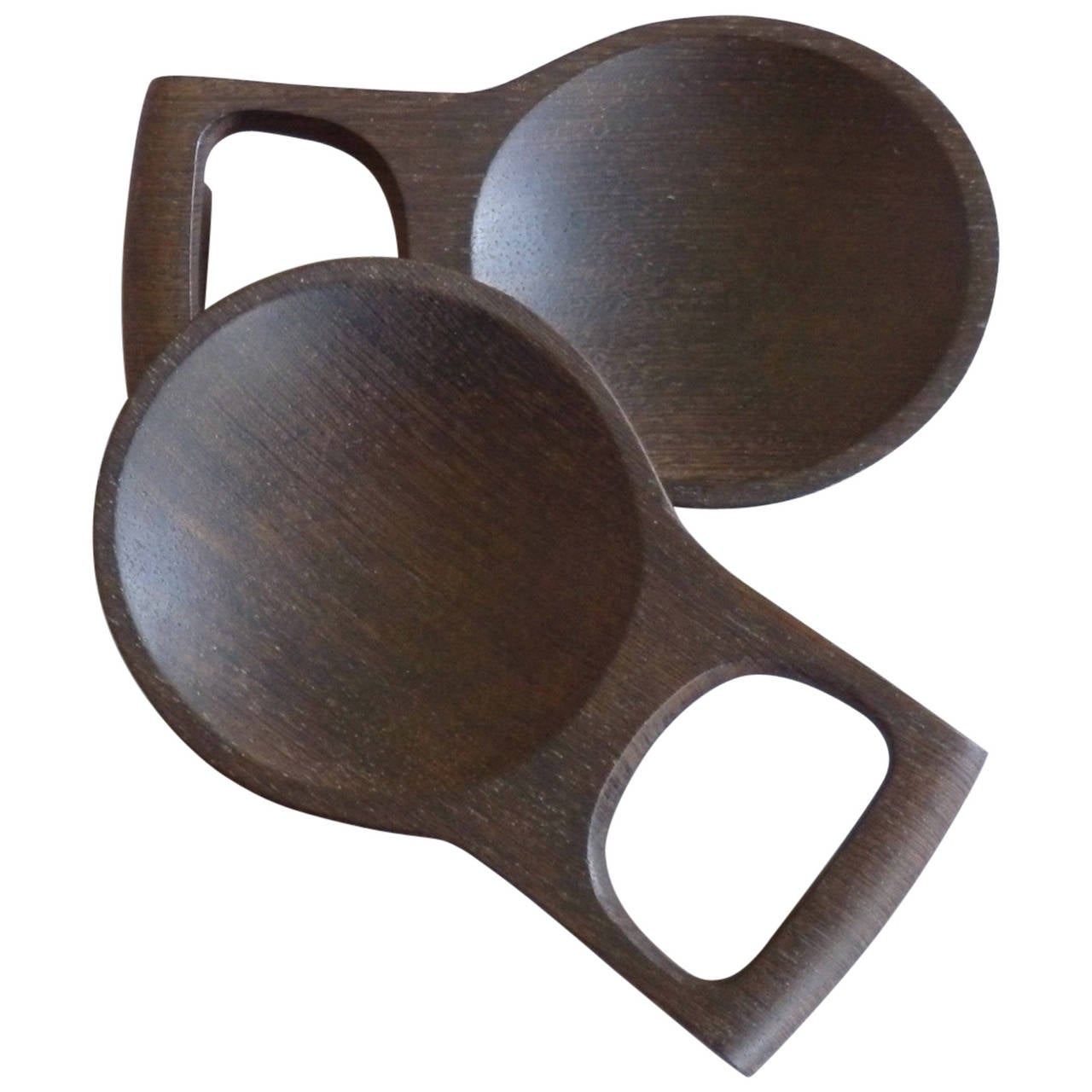 Pair of Dansk Wenge Exotic Wood Salad Servers For Sale