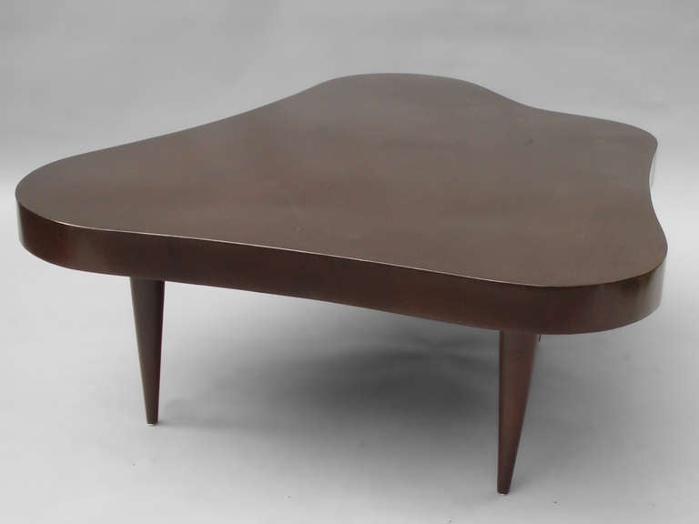 Perfect Biomorphic Free Form Coffee Table In The Style Of Gilbert Rohde 3