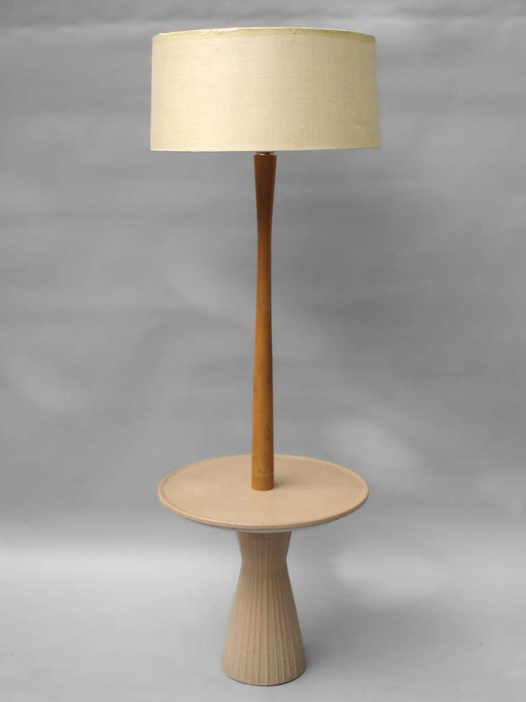 martz low production pottery base table floor lamp at 1stdibs. Black Bedroom Furniture Sets. Home Design Ideas