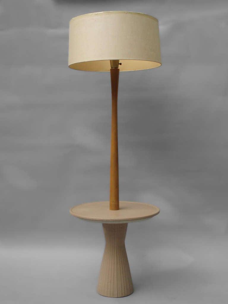 martz low production pottery base table floor lamp at 1stdibs. Black Bedroom Furniture Sets. Home Design Ideas