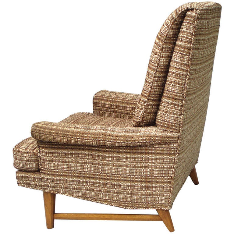 High Back Reading Lounge Chair Attributed To Edward Wormley At 1stdibs