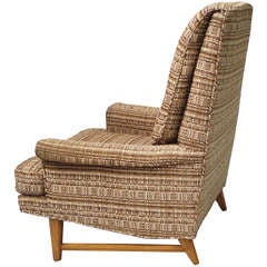 High Back Reading Lounge Chair Attributed to Edward Wormley