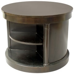 Ebonized Drum Occasional Table by Michael Taylor for Baker