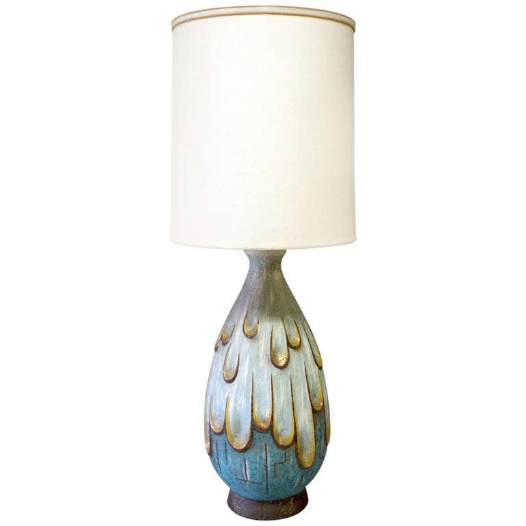 Large Dramatic  Table Lamp