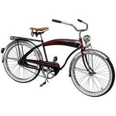 Gentlemans Art Deco streamlined Balloon Tire Spring Suspension tank Bicycle