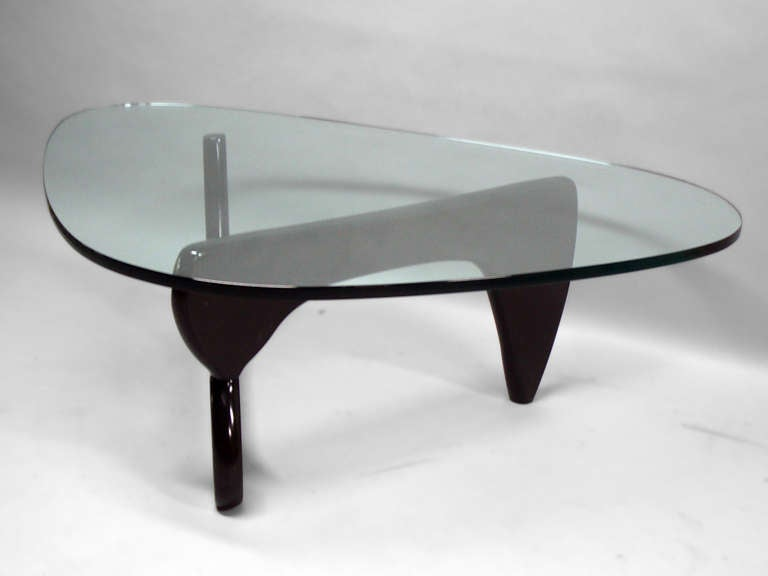 Ebonized Base Glass Top In 50 Coffee Table By Isamu Noguchi At 1stdibs