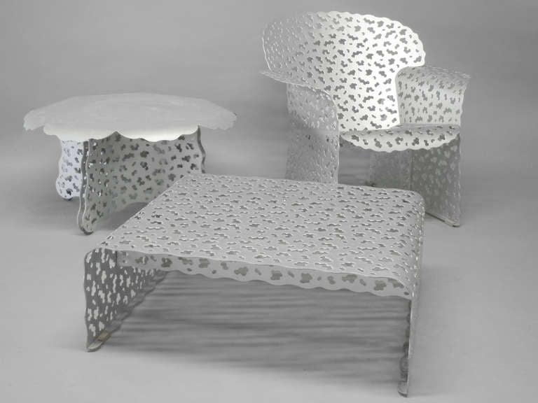 Three Piece Aluminum Outdoor Set By Richard Schultz For