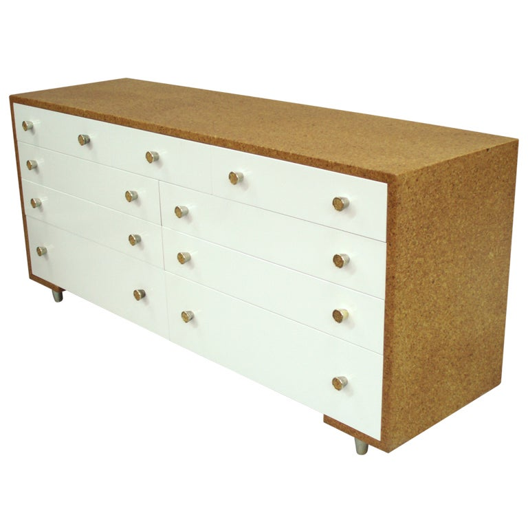 Paul Frank Bedroom In A Box: Cork And Lacquered Mahogany Bedroom Dresser By Paul T