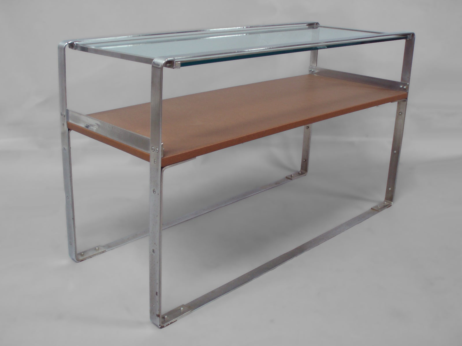 Art Deco Machine Age Donald Deskey style Chrome Sofa Table Console
