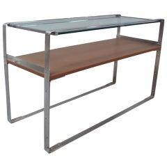 Art Deco Machine Age Chrome Sofa Table Console
