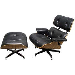 Eames 670 Lounge Chair with 671 Ottoman by Charles and Ray Eames