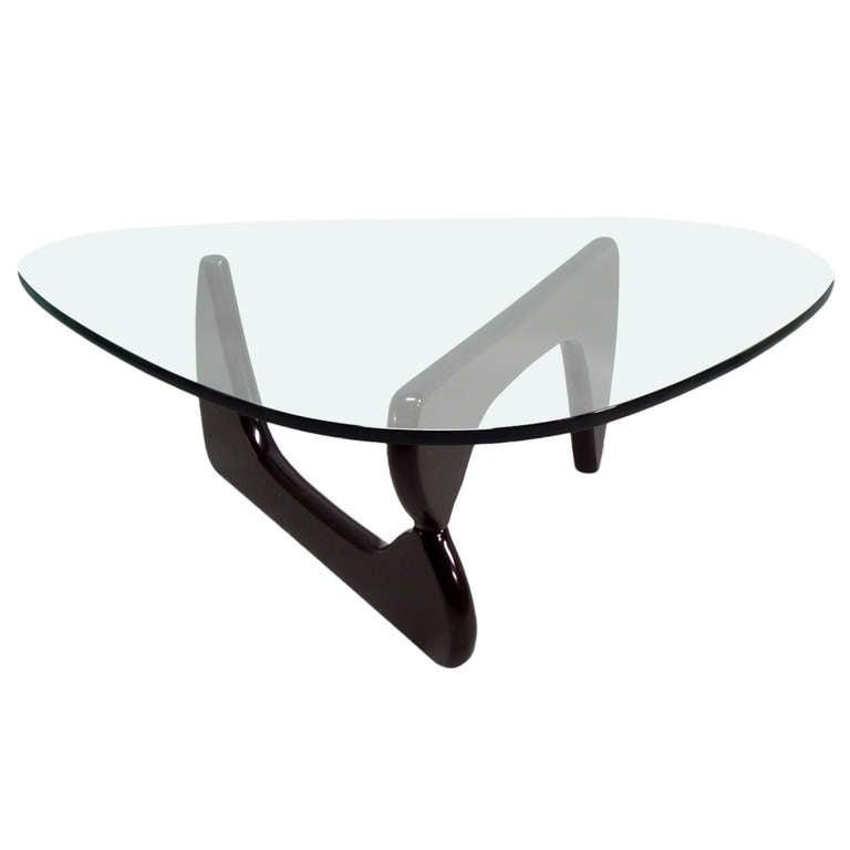 Ebonized base glass top in 50 coffee table by isamu noguchi at 1stdibs - Isamu noguchi table basse ...