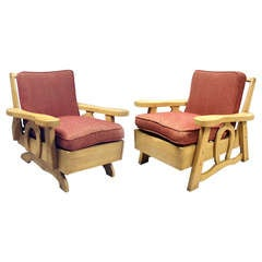 Pair of Cabin or Lodge Chairs Branded Wythe Craft Dude Ranch