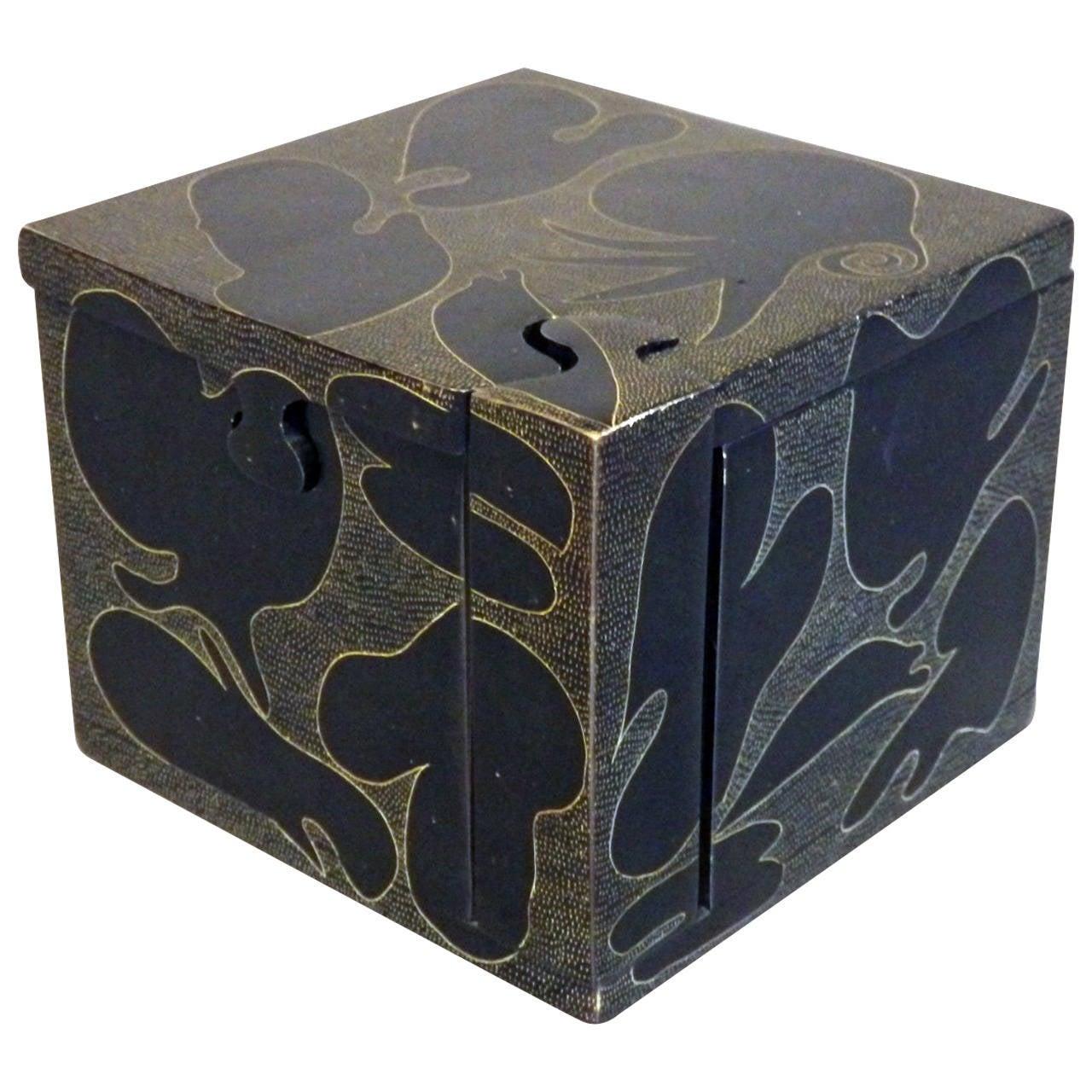 Decorated Stone Puzzle Box