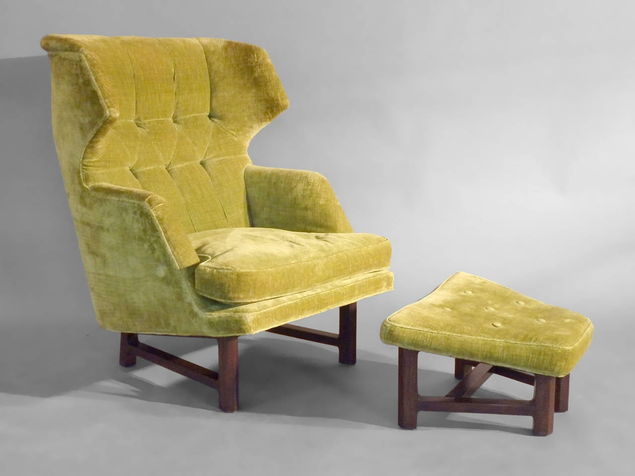 Best Edward Wormley Lounge Chair with Ottoman at 1stdibs