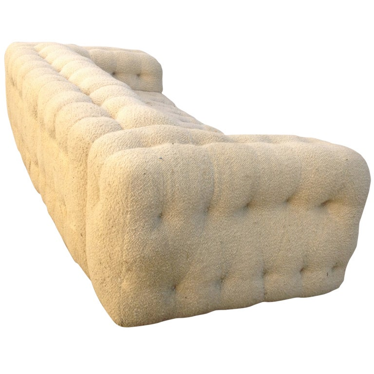 Large Marshmallow Party Couch By Milo Baughman At 1stdibs