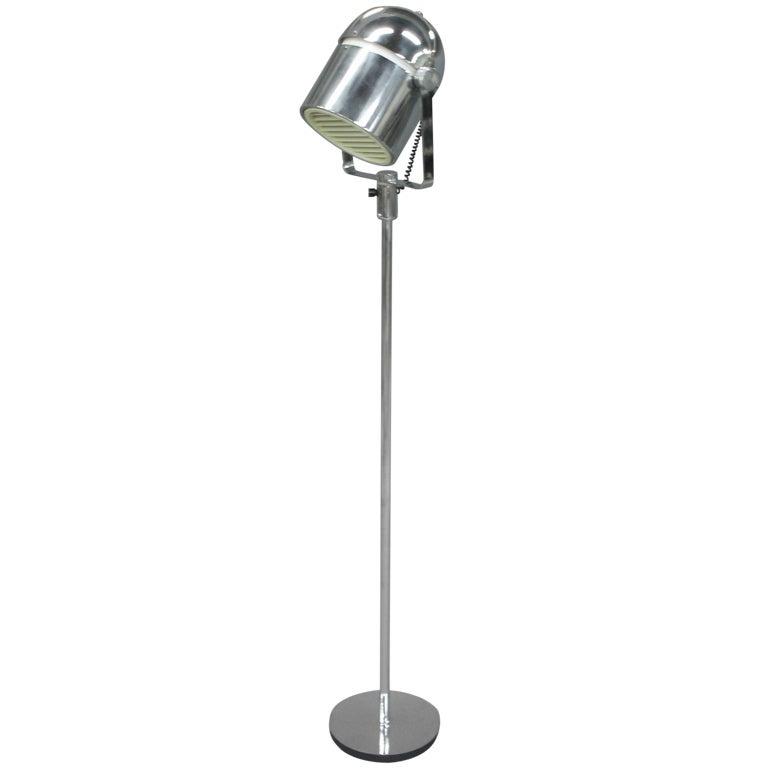Chrome helmet floor lamp at 1stdibs for Darlington floor lamp chrome