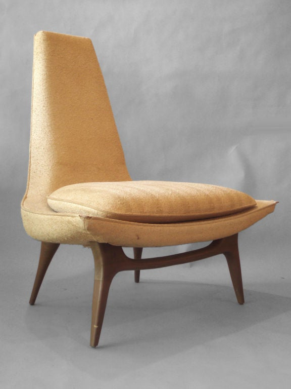 West Coast Atomic Lounge Chair By Karpen Furniture At 1stdibs