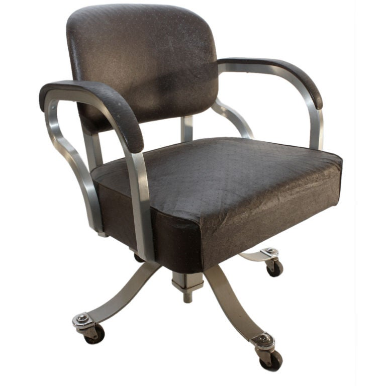 Machine Age Industrial Swivel Desk fice Chair at 1stdibs