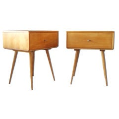 Pair of Maple drawers on tall benches