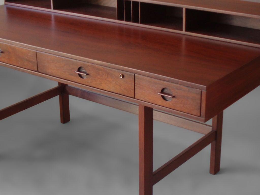 Rosewood flip top desk by peter lovig nielson for lovig at for Flip top computer desk