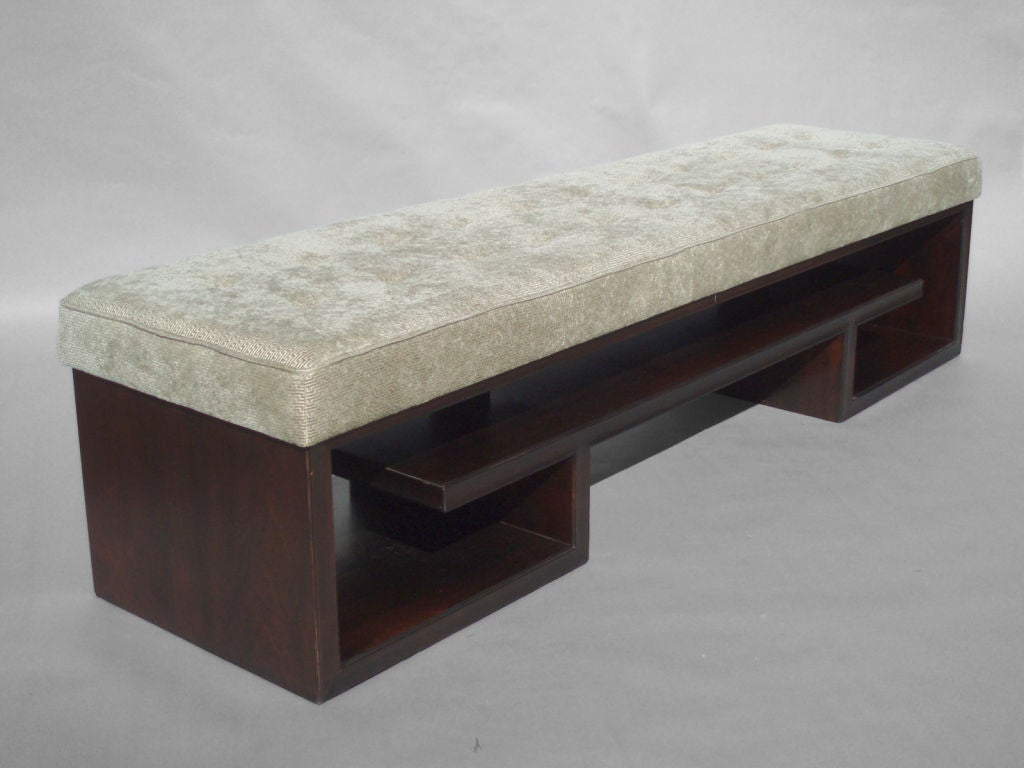 Asian Theme Rosewood Bench By Paul Frankl For Johnson Furniture At 1stdibs