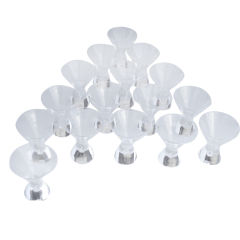 Set of Sixteen Steuben Teardrop Martini Glasses