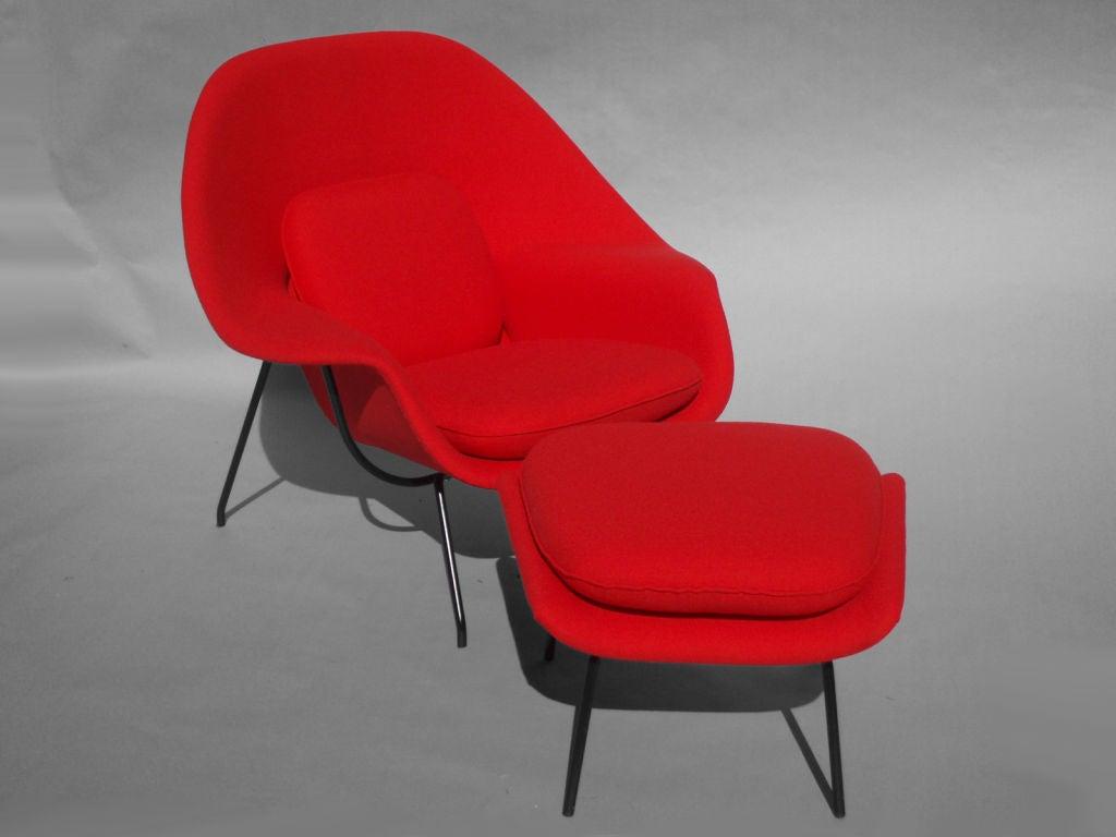 Womb Chair and Ottoman by Eero Saarinen at 1stdibs