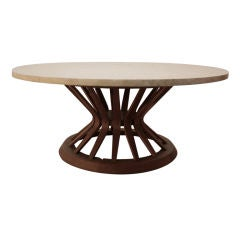 """Wormley For Dunbar """"Sheaf of Wheat"""" Marble top coffee table"""