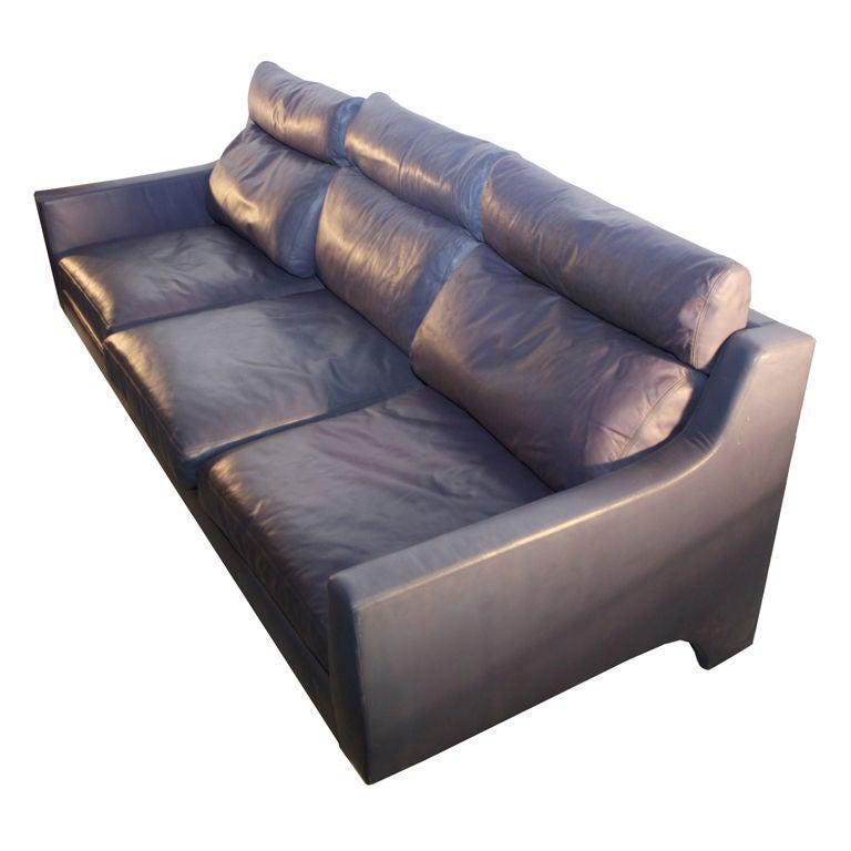 Vladimir Kagan Attribution Purple Leather Sofa At 1stdibs