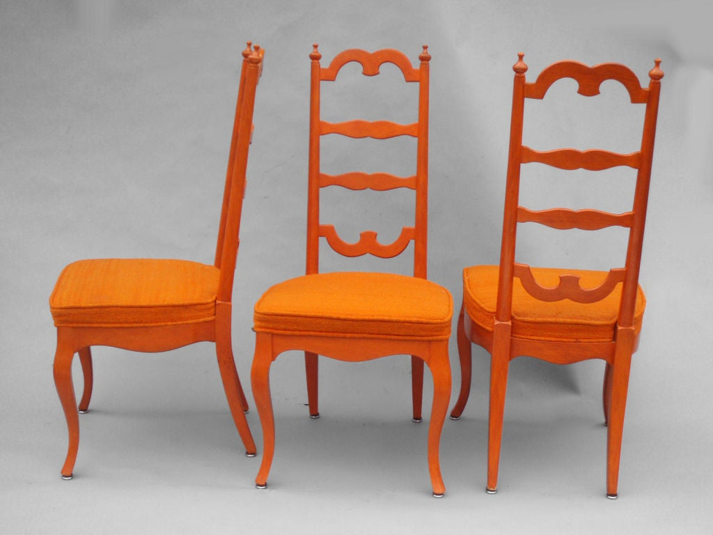 set of six custom made dining chairs at 1stdibs