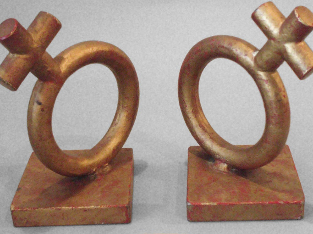 Wrought iron Venus bookends by Jere, Gender Symbol.