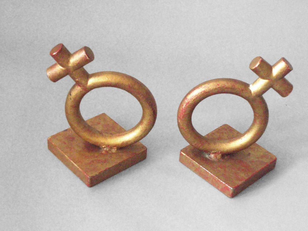 Mid-Century Modern Wrought Iron Venus Bookends by Jere For Sale