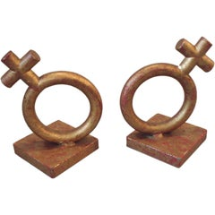 Wrought Iron Venus Bookends by Jere
