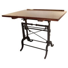 Iron Base adjustable Drafting table