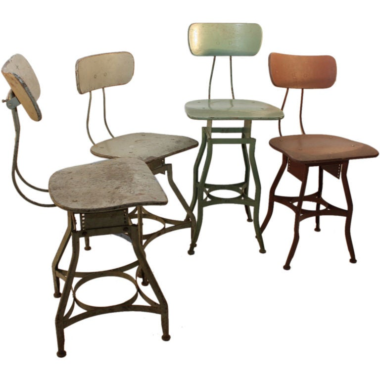 Large Lot Of Industrial Stools At 1stdibs