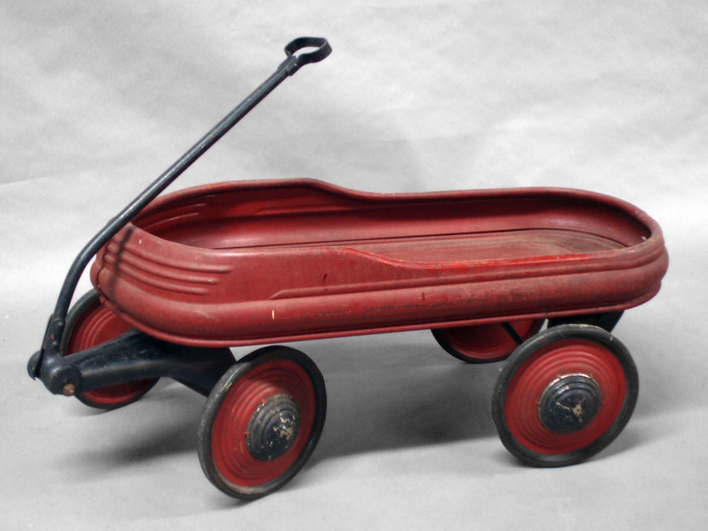 Pair of Children's Pull Wagons at 1stdibs